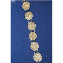 A Victorian coin silver Love Token bracelet