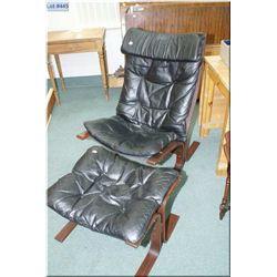 Bent wood chair and ottoman