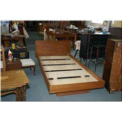 Single sized teak bed frame