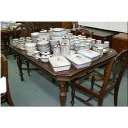 1930's dining table with three matching chairs