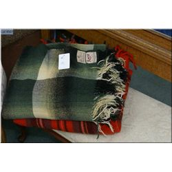 Three Hudson's Bay wool blankets