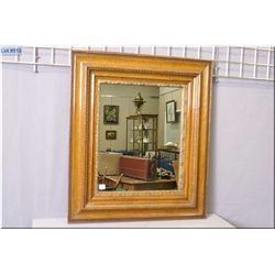"""Vintage oak and gilt framed wall mirror, overall dimension 31"""" X 26"""""""