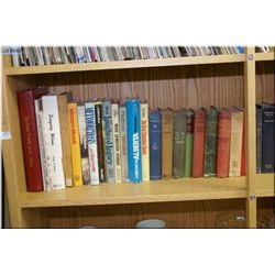 A large selection of vintage hardcover books