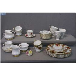 A selection of Royal Albert bone china including Silver Maple, Old Country Roses, Val D'Or and Ameri