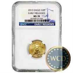 2013 $5 Gold American Eagle MS70 Early Release