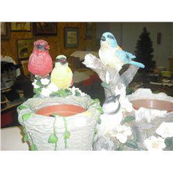 2 Bird Planters