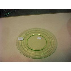 Green Depression Glass Plate