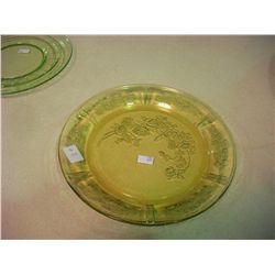 Amber Depression Glass Plate