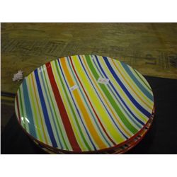 set 4 Candy Stripped Plates