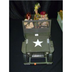 3 Army Barbie w/Jeep