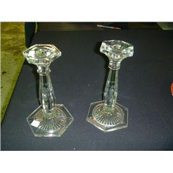 Crystal Candle Sticks (small chip on 1)