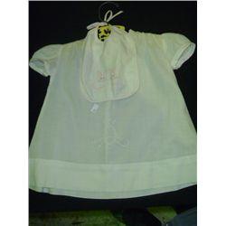 Vintage Baby Dress w/Bib
