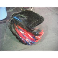 Black Velor Fasinator w/Feather