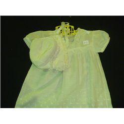 Vintage Baby Dress w/ Hat