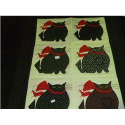 Cat Applique Quilt