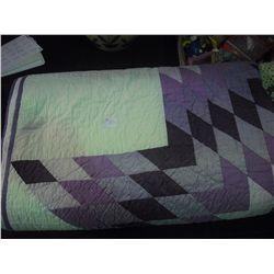 Purple Star Pattern Quilt