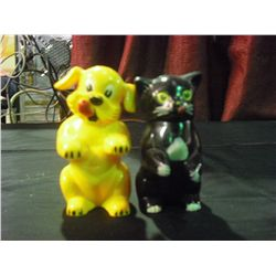 Cat & Dog Plastic Salt and Pepper Shakers