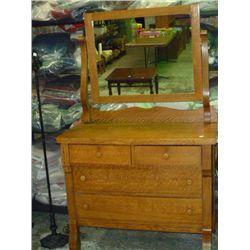 Oak Dresser w/Mirror