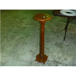 Round Oak Plant Stand