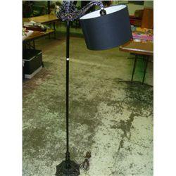 Vintage Black Iron Floor Lamp