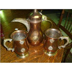 Turkish Coffee pot w/2 Mugs