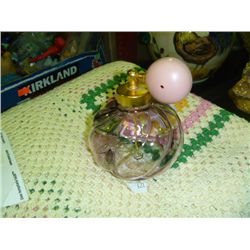 Pink Glass Perfume Bottle w/ Atomiser