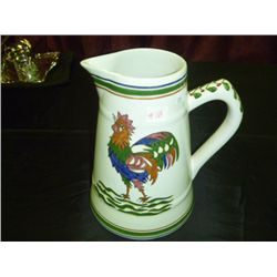 Arte Ceramica Rooster Pitcher 202 Hand Painted Portugal