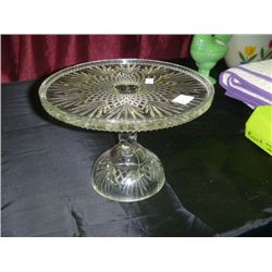 Pressed Glass pedistal Cake Plate
