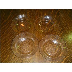 Pink Depression Glass Dessert Bowls (Set 4)