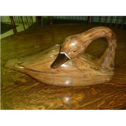 Carved Wooden Swan
