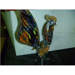 Blown Glass Rooster