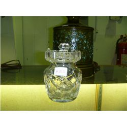 Waterford Crystal Honey Pot w/ Spoon