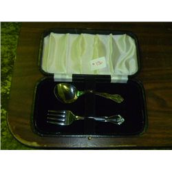 Childs Flatware 2 Piece Set in case