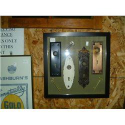Shadow Box of Door Plates and Keys