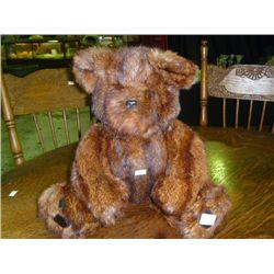 Valli Bear made of Mink stoll Fur