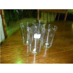 Cut Glass Glasses (Set 4)