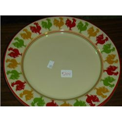 2 Rooster Plates by Overand Back