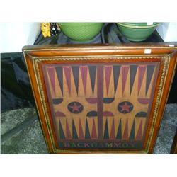 Metal Backgammon Picture