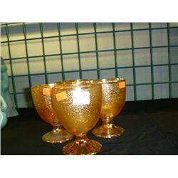 Crackle Glass Goblets