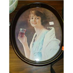 1973 Reproduction Oval Coca-Cola Tray