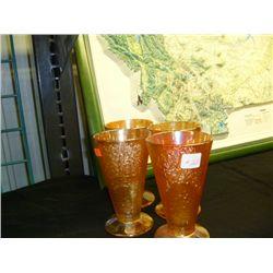 Crackle Glass  Tumblers (Set 4)