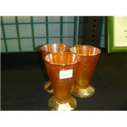 Crackle Glass  Small Tumblers (Set 3)