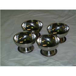 Set of 4 Stainless Steel Ice Cream Cup