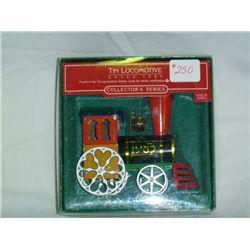 1985 Tin Locomotive Christmas Ornament Hallmark Collection Series