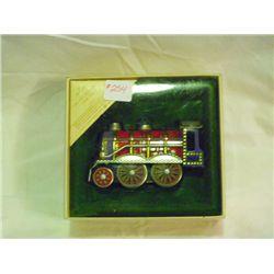 1984 Tin Locomotive Christmas Ornament Hallmark Collection Series