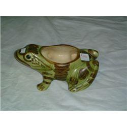 Green Shawnee Frog Planter