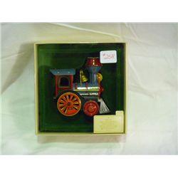 1982 Tin Locomotive Christmas Ornament Hallmark Collection Series