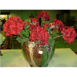 Flower Pot w/ Geraniums