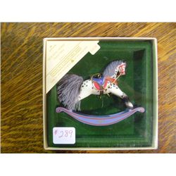 1984 Rocking Horse Christman Ornament Hallmark Collectible Series