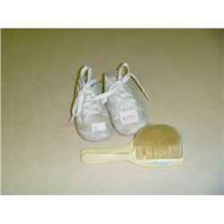 Baby Shoes w /Comb & Brush